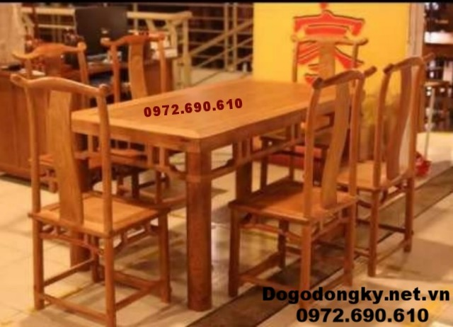 Bộ bàn ăn đẹp giá rẻ bàn chữ nhật BA.86