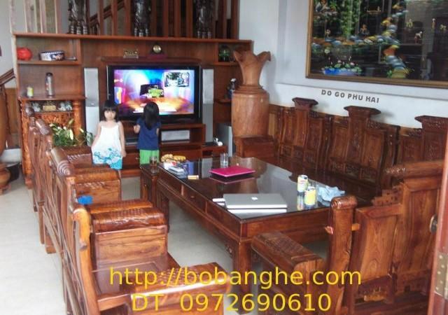 Đồ gỗ Phú hải: Bộ bàn ghế gỗ cẩm lai Âu Á tay hộp MSAU5