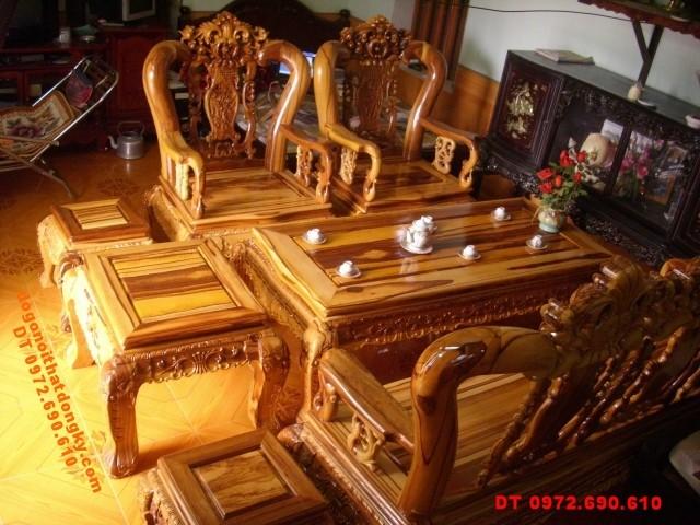 Đồ gỗ Đồng kỵ Bộ bàn ghế Minh quốc Gỗ Cẩm thị CT1