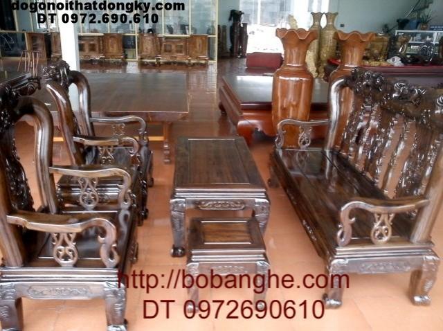 Bộ bàn ghế đồng kỵ Kiểu minh quốc hồng C03