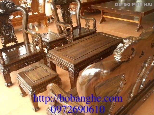 Bàn ghế phòng khách minh quốc Hồng cột 10 K02