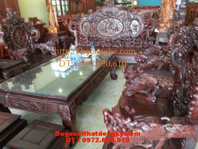 Đồ gỗ cao cấp Bộ bàn ghế rồng đỉnh RD3