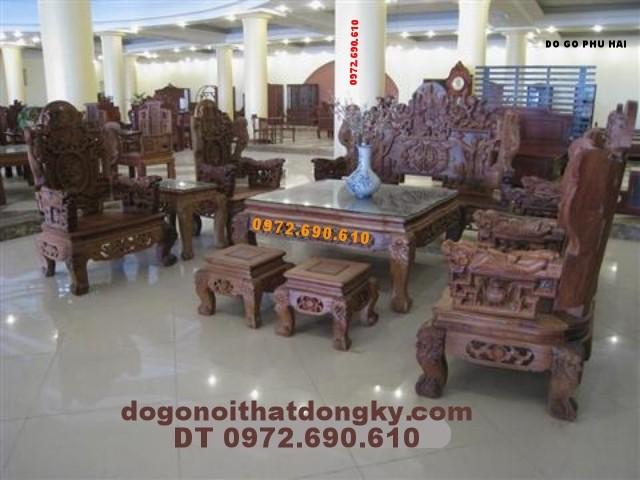 Đồ gỗ Phú Hải - Bộ bàn ghế Tam Đa TĐ2