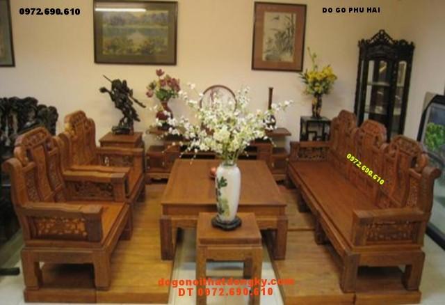 Đồ gỗ đồng ky Bộ Bàn Ghế Như ý Voi NY2