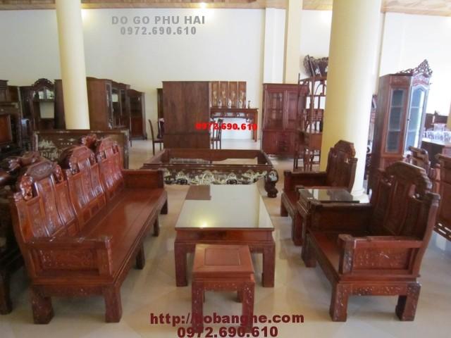 Bộ bàn ghế phòng khách nhu y voi NYG1