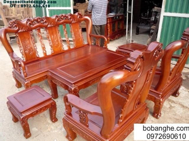 Bàn ghế gỗ gụ minh quốc cột 9 GC02