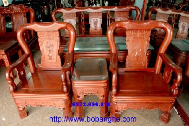 Bàn ghế Gỗ gụ minh quốc Triện V10 QT01