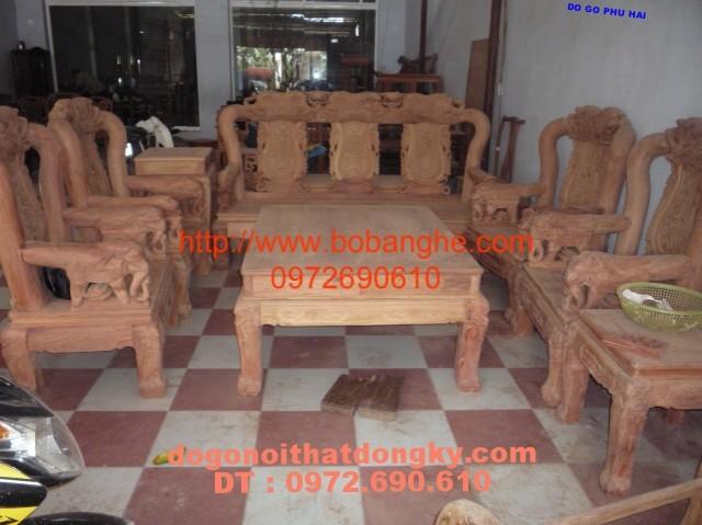 Bộ bàn ghế gỗ hương Minh quốc Voi V12 QV9