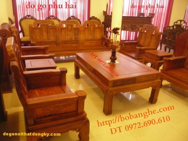 Bộ bàn ghế Như ý voi, Đồ gỗ đồng ky NY2