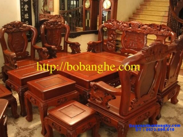 Đồ gỗ cao cấp Bộ bàn ghế Phượng công 10 món PC1
