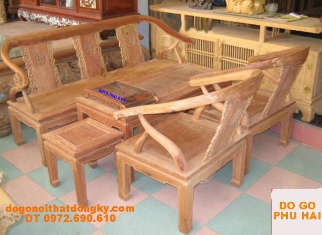 Đồ gỗ mỹ nghệ Bộ Bàn Ghế Minh Lùn Gỗ Hương ML3