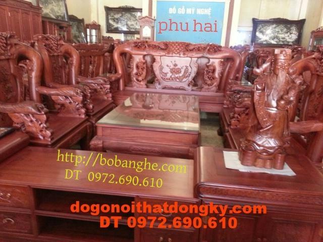 Bộ bàn ghế gỗ hương Kiểu Phượng Công PC13
