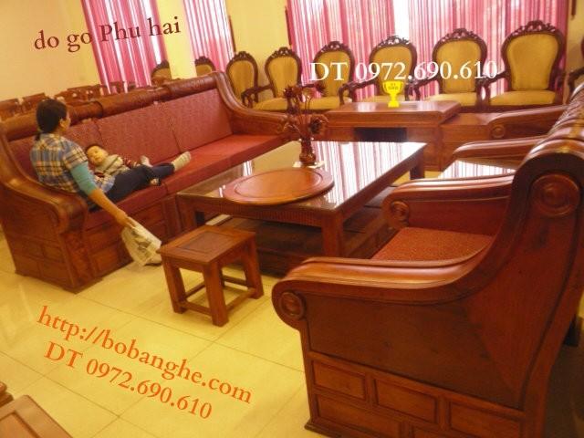Đồ gỗ cao cấp Bộ bàn ghế Hộp trống Gỗ Hương HT3