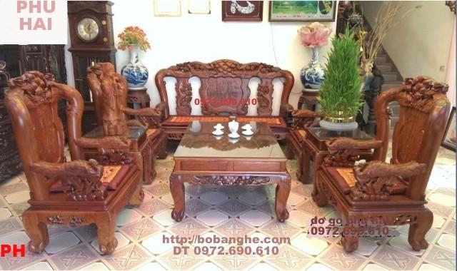 Bộ bàn ghế gỗ hương kiểu Công Phượng V12 PC17