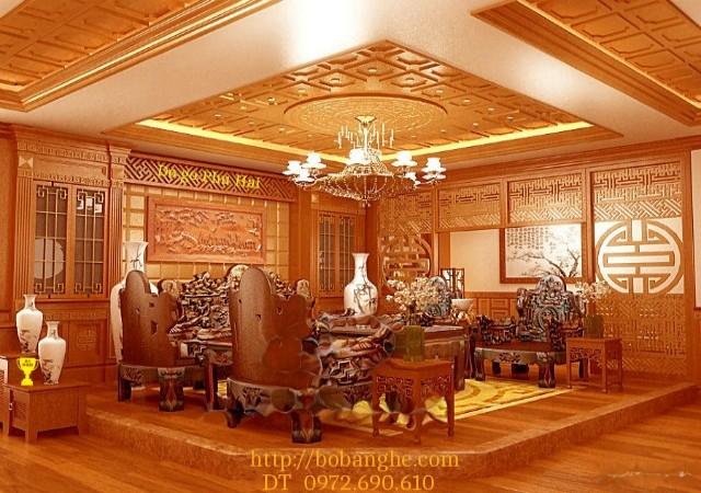 Bộ bàn ghế Đồng Kỵ :Bộ Tam Đa TĐ1