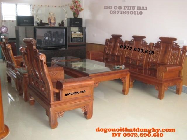 Bộ bàn ghế đồng kỵ Gỗ hương Tần Thủy Hoàng AU06