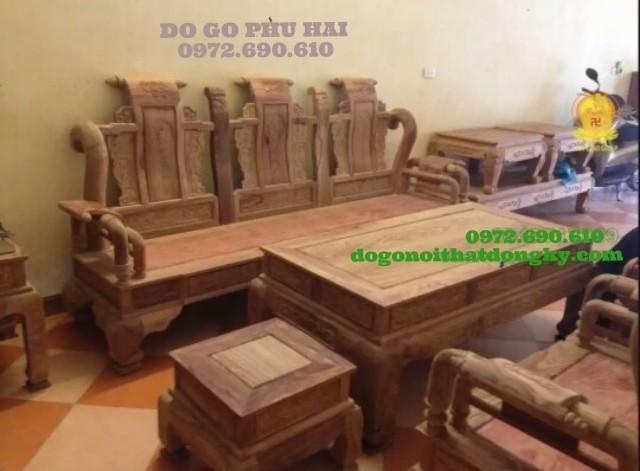 Bộ bàn ghế gỗ hương kiểu Khổng minh KM01
