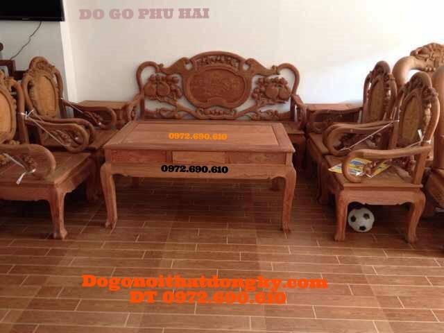 Bộ bàn ghế phòng khách đẹp dạng Guột cổ BGC1