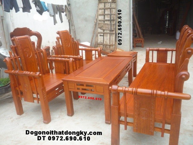 Bộ bàn ghế đẹp gỗ hương Kiểu Tần Thủy Hoàng TTH4