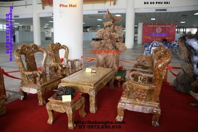 Bộ bàn ghế gỗ nu nghiến V12 kiểu Minh Quốc NG11