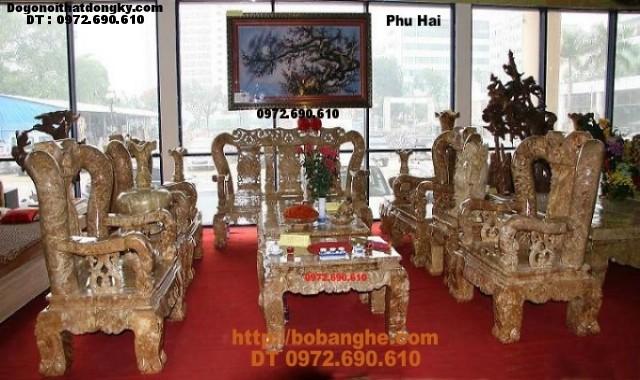 Bộ bàn ghế gỗ nu nghiến V14 kiểu Minh Quốc NG10