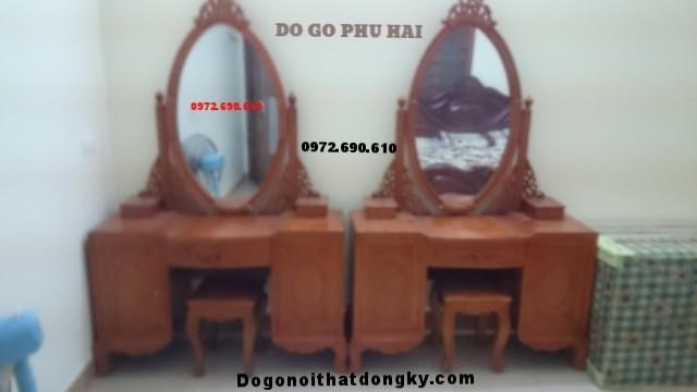 Sản xuất Bàn phấn trang điểm giá rẻ gỗ gụ BP27