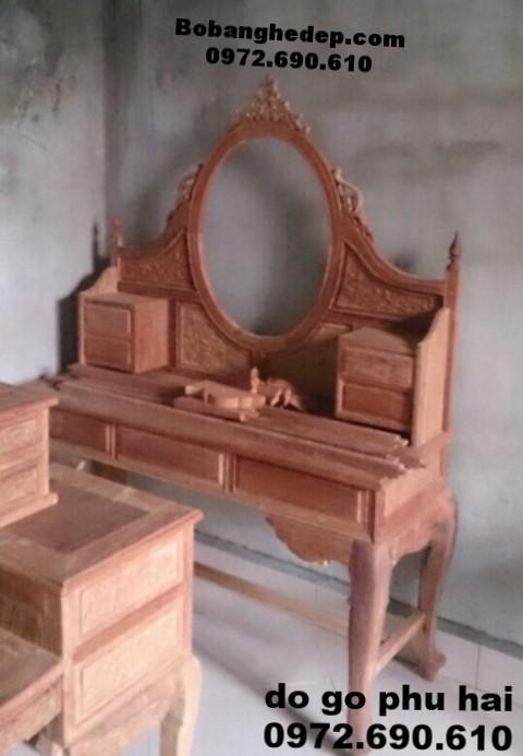 Bộ bàn ghế trang điểm đẹp đồ gỗ đồng kỵ BP43