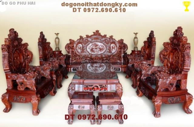 Bàn ghế Đồng Kỵ - Bộ Rồng Bảo Đỉnh RD10