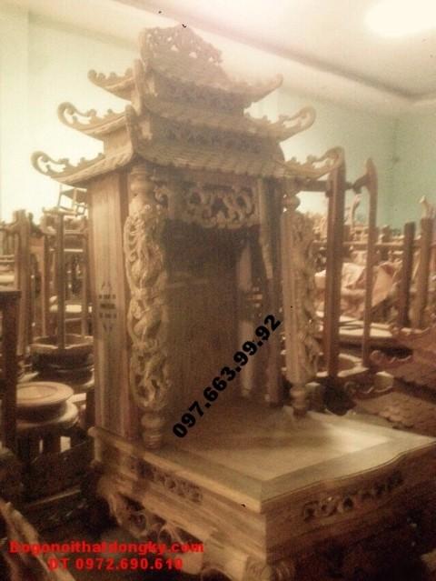 Mẫu bàn thờ đẹp ba mái thờ thần tài BTT.18