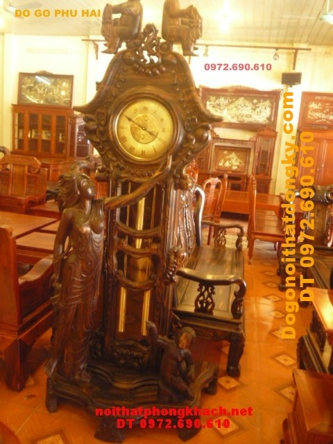 Đồng hồ đứng Gỗ Mun Mẫu Thiên thần ĐH38