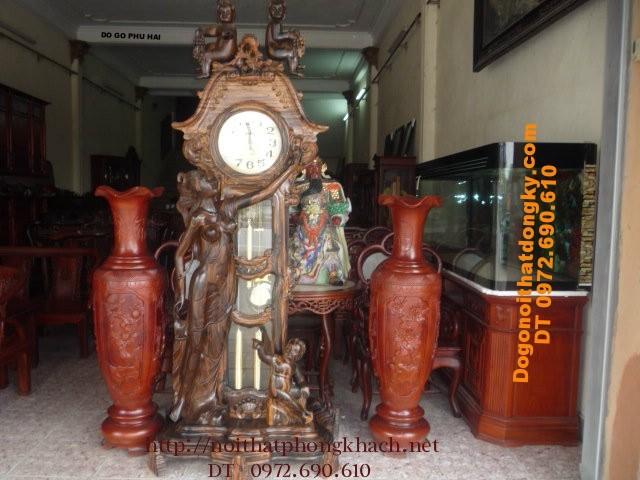 Đồng hồ cây kiểu Pháp Đồ gỗ Phú hải ĐH18
