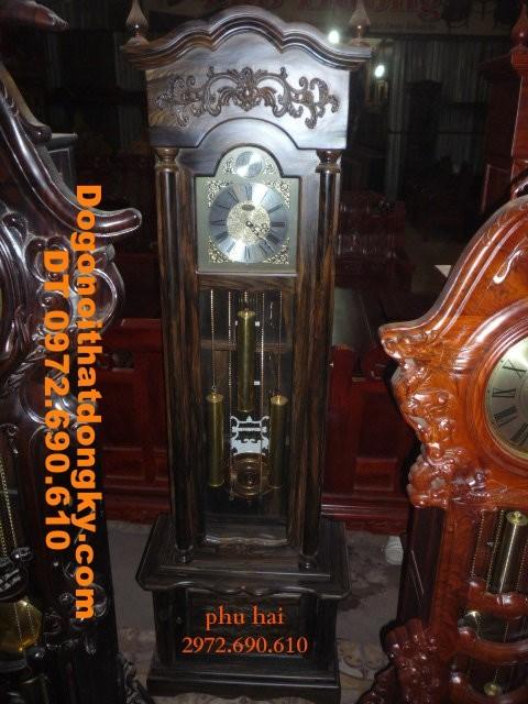 Đồng hồ gỗ mun máy điện tử HQ ĐH28