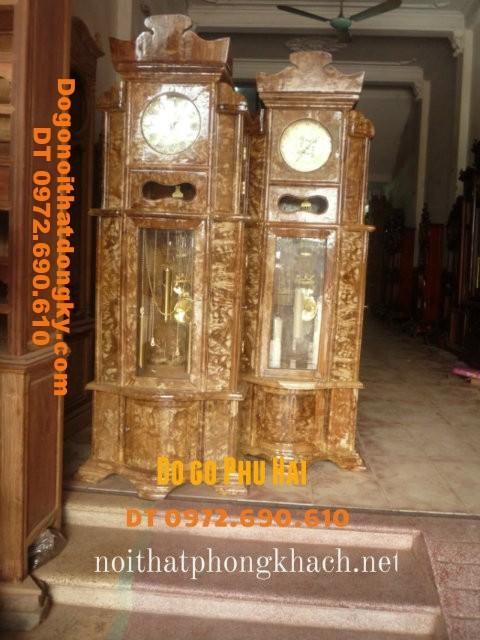 Đồng hồ đứng gỗ nu nghiến máy Hàn quốc ĐH16