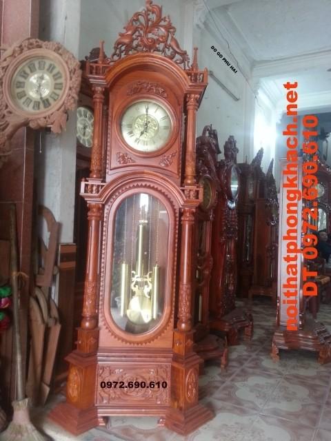 Đồng hồ cây gỗ hương kiểu Đức, Đồ gỗ Phú Hải ĐH34