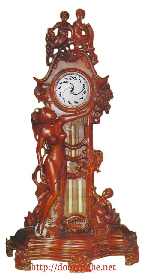 Đồ gỗ Phú hải, Đồng hồ cây kiểu thiên thần ĐH6