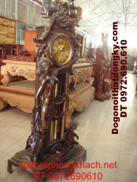 Đồng hồ cây Gỗ Mun kiểu thiên thần ĐH15