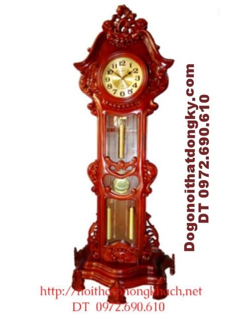 Đồng hồ cây gỗ hương Máy điện tủ HQ ĐH22