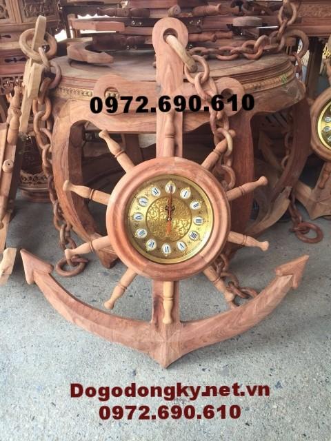 Đồng hồ điêu khắc Mỏ neo, Quà tặng độc đáo DH89