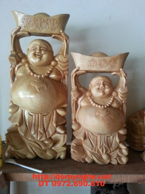 Quà tặng tân gia Phật Di Lặc Gỗ Pơ Mu DL06