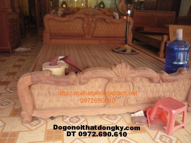 Giường gỗ ,Giường ngủ Lẵng hoa GN11