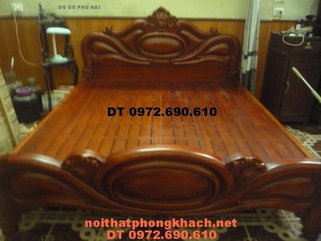 Giường ngủ gỗ hương ,Giường xoài GN19