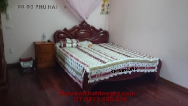 Giường gỗ đẹp Giường ngủ mẫu giường xoài GN.34