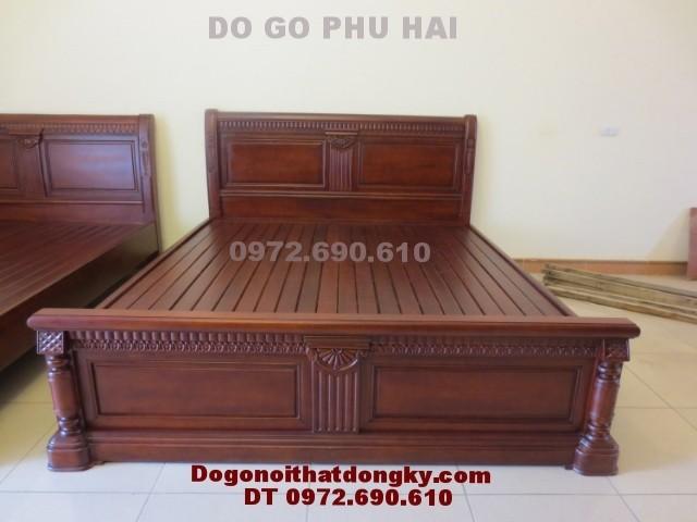 Giường ngủ đẹp, Giường ngủ gỗ tự nhiên GN<>29