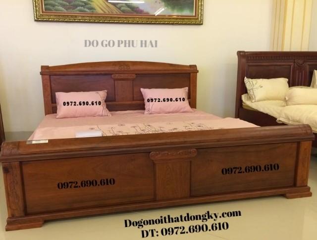 Giường ngủ đẹp, Giường cô dâu gỗ hương GN43