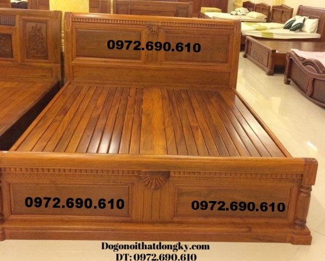 Giường ngủ giá rẻ, Giường gỗ đẹp GN44