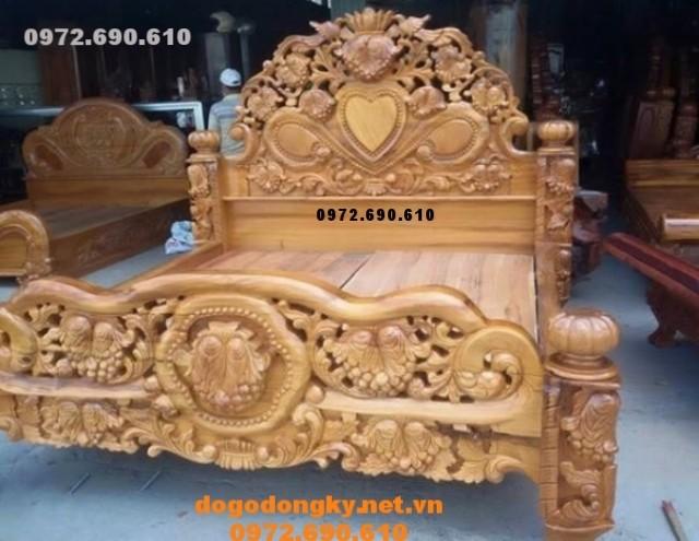 SX và bán giường ngủ đẹp kiểu dáng mới nhất GN57