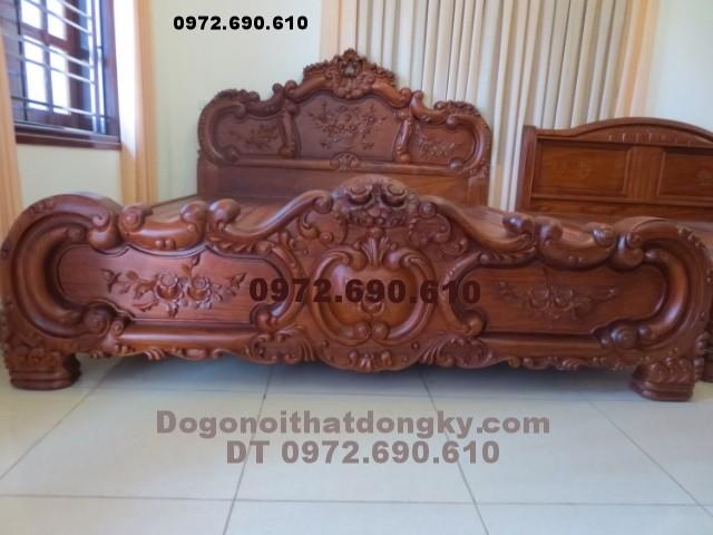 giường ngủ đẹp, Giường ngủ gỗ hương GN<>31