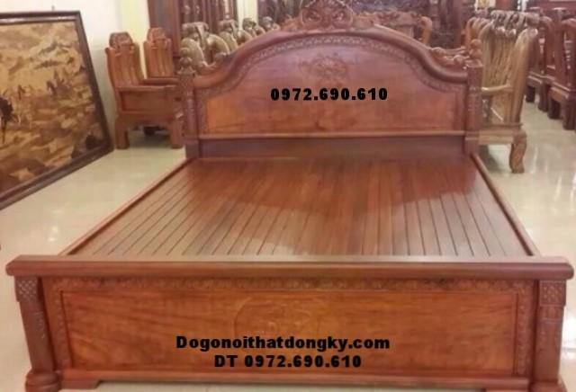 Mẫu giường ngủ đẹp gỗ hương, hiện đại giá rẻ GN-65