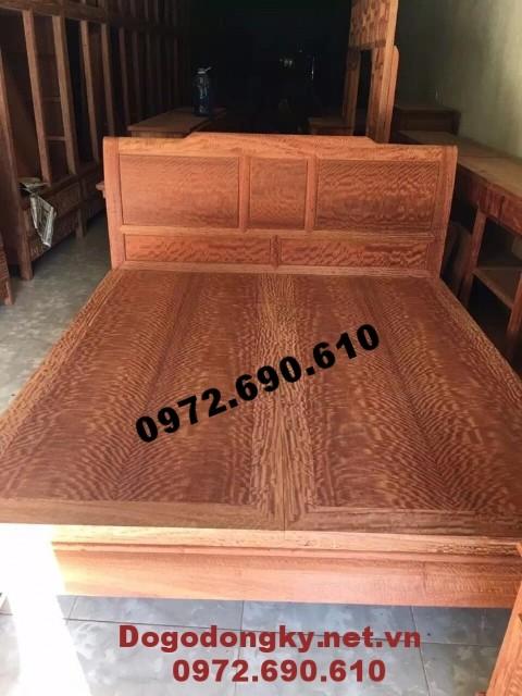 Giường ngủ mẫu đẹp, Giường đôi gỗ giá rẻ GN.67