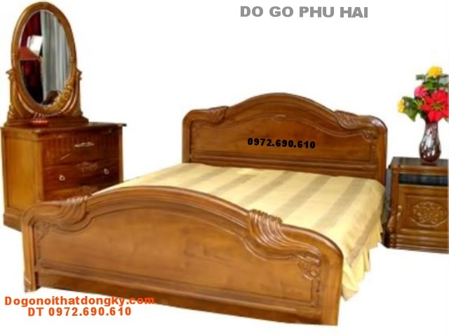 Mẫu Giường ngủ kiểu Tây ban nha GN8